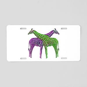 Bright Giraffes Aluminum License Plate