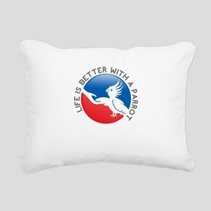life is better with a pa Rectangular Canvas Pillow