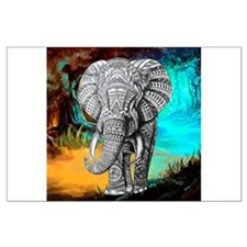 African Elephant Large Poster