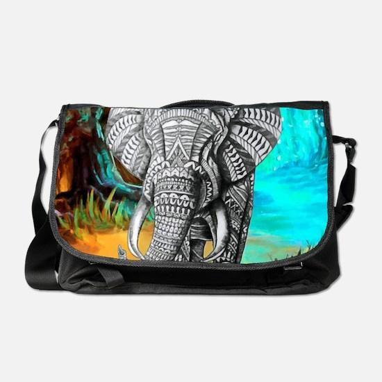 African Elephant Messenger Bag