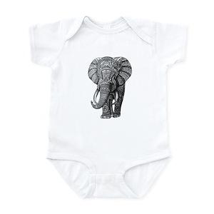2eb1da6bf6be11 Kids Elephant Baby Bodysuits - CafePress