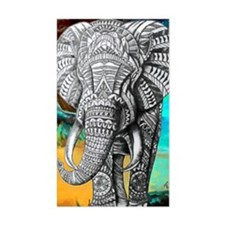 African Elephant Sticker (rectangle)