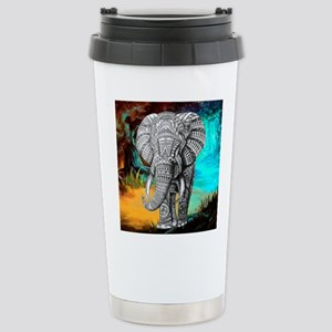 African Elephant Stainless Steel Travel Mug