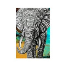African Elephant Rectangle Magnet Magnets