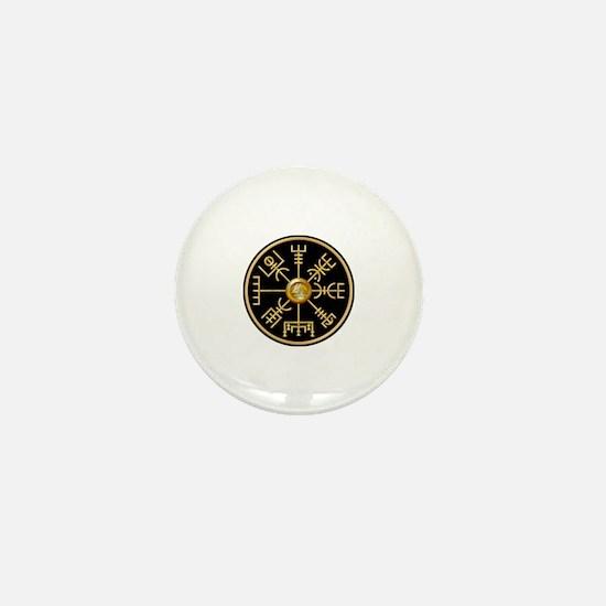 Unique Viking compass Mini Button
