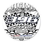 396 car badge Round Car Magnet