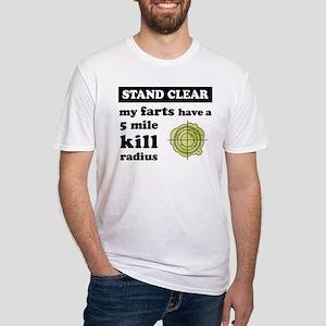 myfartshavea5milekillradius_black T-Shirt