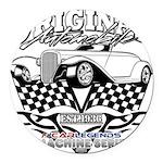 Original Automobile Machines Round Car Magnet