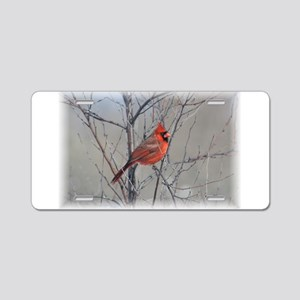 Cardinal 2 (signed)09 Aluminum License Plate