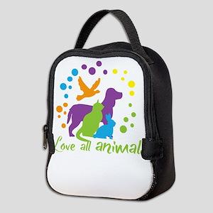 love all animals Neoprene Lunch Bag
