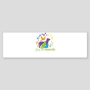 love all animals Bumper Sticker
