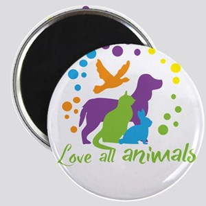 love all animals Magnets