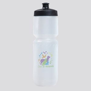 love all animals Sports Bottle