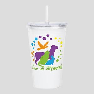 love all animals Acrylic Double-wall Tumbler