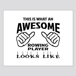 This is what an awesome Rowing player Small Poster