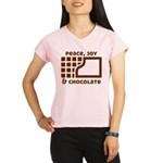 Peace, joy & chocolate Performance Dry T-Shirt