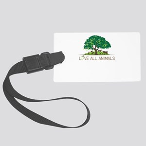love all animals Large Luggage Tag