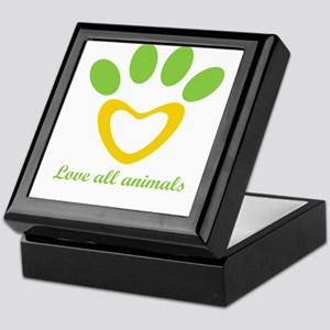 love all animals Keepsake Box