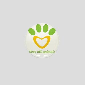 love all animals Mini Button