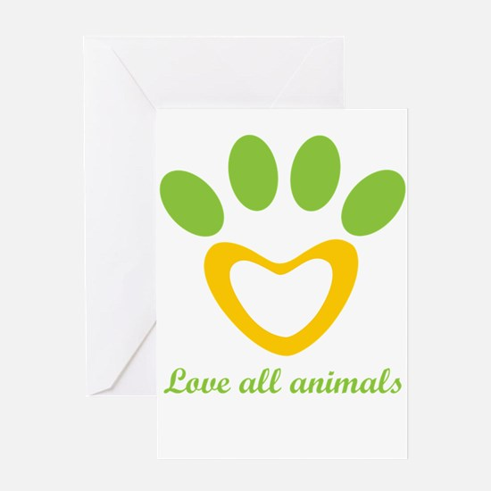 love all animals Greeting Cards