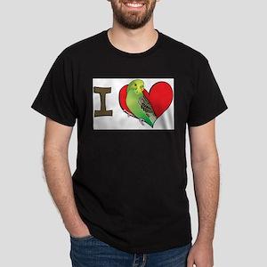 I heart parakeets (Green) Ash Grey T-Shirt