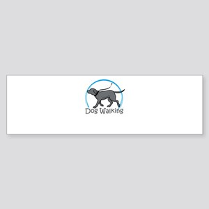 dog walking Bumper Sticker