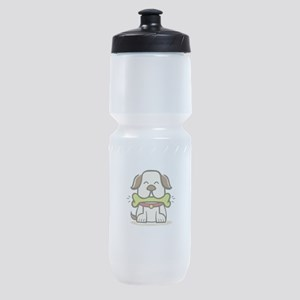 dog funny Sports Bottle