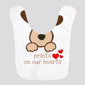 dogs leave paw prints on our he Polyester Baby Bib