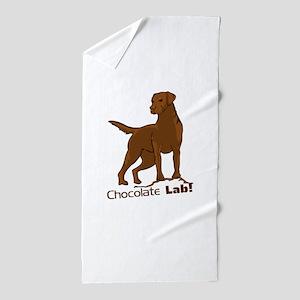 chocolate lab! Beach Towel