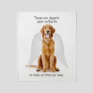 Angel Golden Throw Blanket