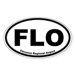 Florence Regional Airport Oval Sticker