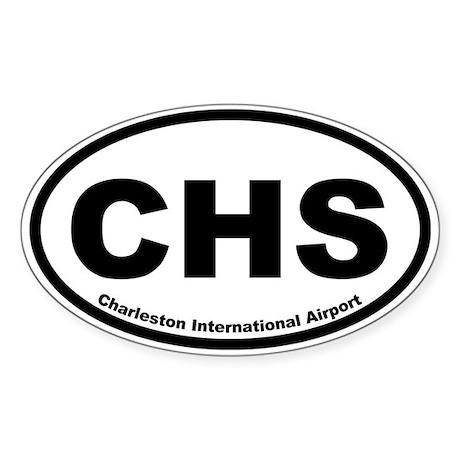 Charleston International Airport Oval Sticker