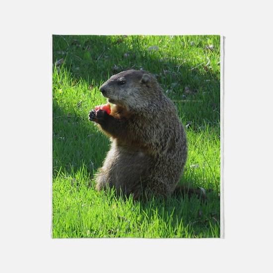 Groundhog Throw Blanket