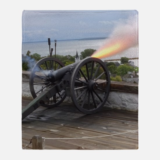 Canon Fire Throw Blanket