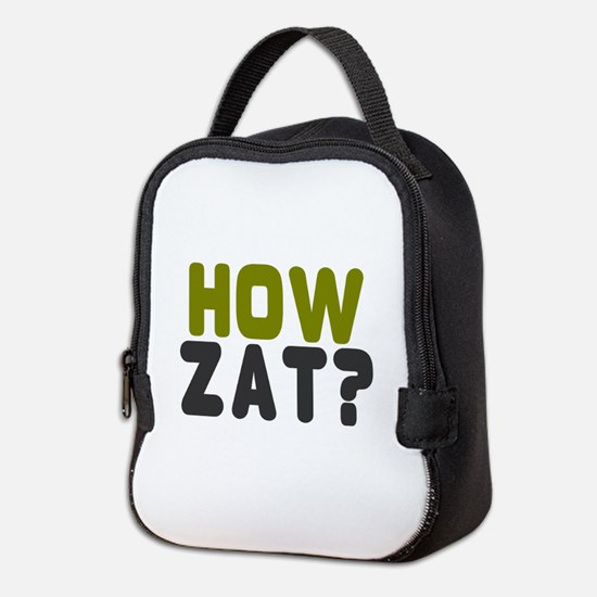 CRICKET - HOW ZAT - OUT!! Neoprene Lunch Bag