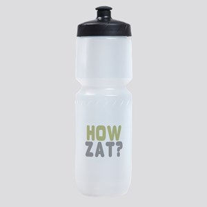 CRICKET - HOW ZAT - OUT!! Sports Bottle