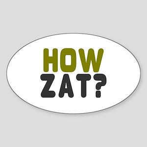CRICKET - HOW ZAT - OUT!! Sticker