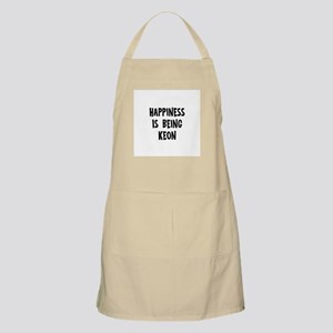 Happiness is being Keon BBQ Apron