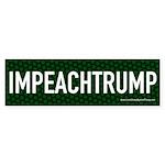 Impeach Trump Green Bumper Sticker