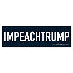 Impeach Trump Blue Bumper Bumper Sticker