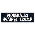 Moderates Against Trump Bumper Sticker