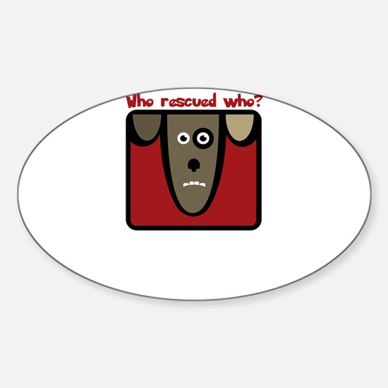who rescued who? Decal