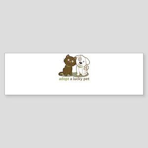 adopt a lucky pet Bumper Sticker