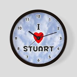 I Love Stuart (Black) Valentine Wall Clock