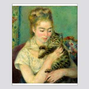 Woman with a Cat by Auguste Renoir Posters