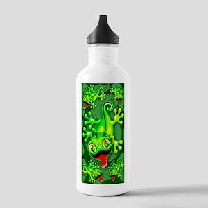 Gecko Lizard Baby Cartoon Sports Water Bottle