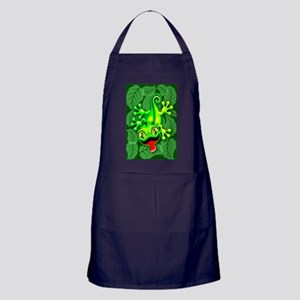 Gecko Lizard Baby Cartoon Apron (dark)