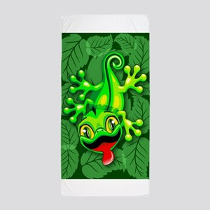 Gecko Lizard Baby Cartoon Beach Towel