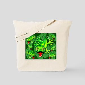 Gecko Lizard Baby Cartoon Tote Bag