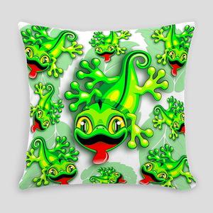 Gecko Lizard Baby Cartoon Everyday Pillow
